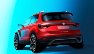 Essa é a traseira do VW T-Cross, o SUV compacto do Polo