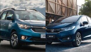 Chevrolet Spin LT AT ou Honda Fit LX CVT? | Em números